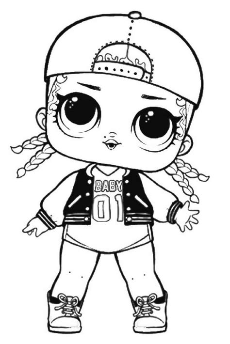 lol dolls coloring pages  print