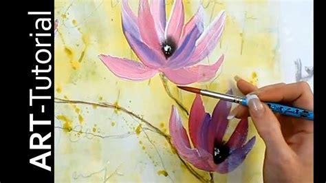 abstrakte magnolie mit einfachen pinselstrichen einfach