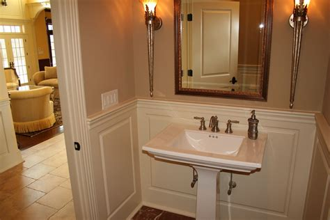 wainscoting america raised panel  bathroom