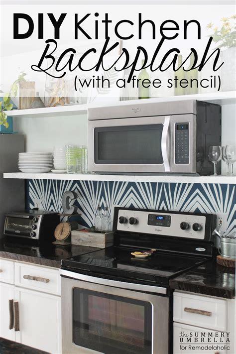how to do kitchen backsplash remodelaholic diy kitchen backsplash stencil