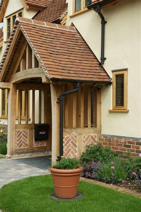 Border Oak Porch With Herringbone Brick Infill Home