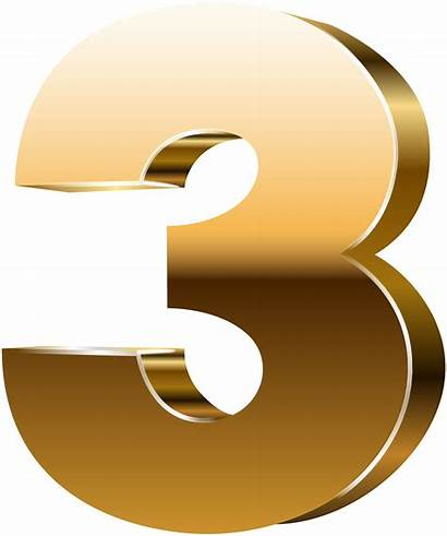 Number Three Clip Clipart Numbers Graphics Transparent