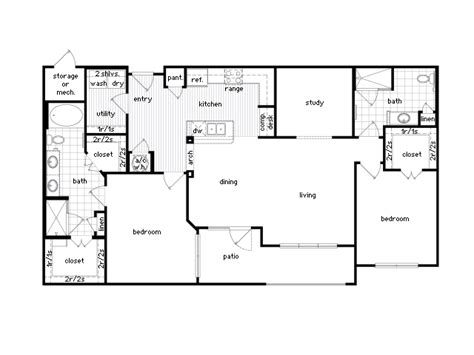 2 Bedroom 1 Bath Floor Plans by 36sixty Floor Plans 1 2 Bedroom Luxury Apartments