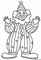Clown Coloring Pages Printable Drawing Cool2bkids Getdrawings sketch template