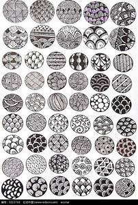 圆形黑白植物花纹图片免费下载_红动网