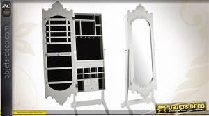 Miroir à Bijoux : psych miroir baroque avec armoire bijoux patine blanc antique ~ Teatrodelosmanantiales.com Idées de Décoration
