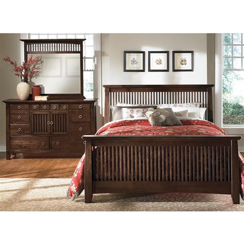 american signature arts and crafts bedroom set value city furniture