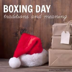 boxing day meaning and traditions