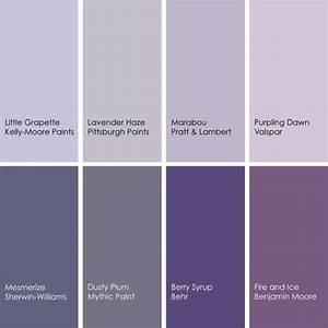 Shades of Purple | Purple paint colors, Lavender paint ...