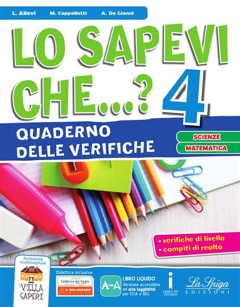 Test Ingresso Scienze Naturali by Lo Sapevi 4 Verifiche Scienze Mate By Eli Publishing