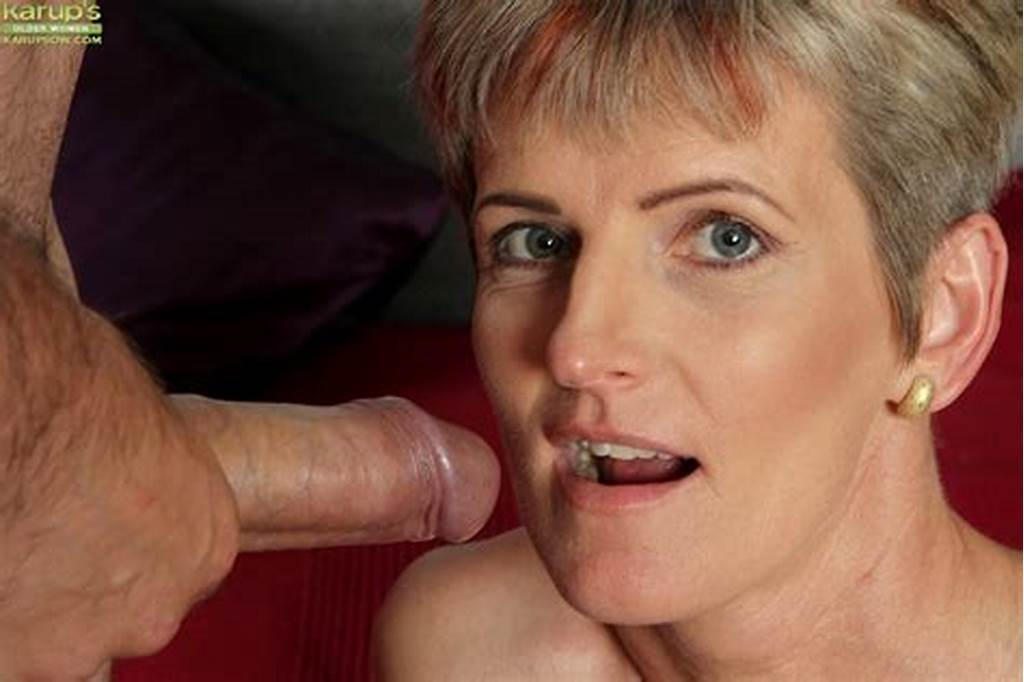 #Grey #Haired #Mature #Woman #Melanie #Giving #Oral #Sex #For