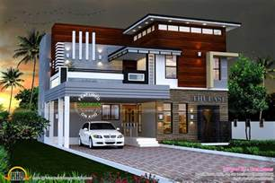 Home Design Gallery - 2165 sq ft modern contemporary house kerala home design and floor plans