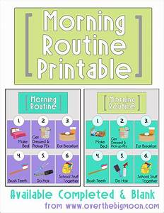 Morning Routine Printable: Back to School Series | Miss D ...
