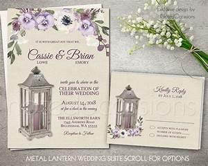 lantern wedding invitation set printable rustic wedding With wedding invitations with lanterns