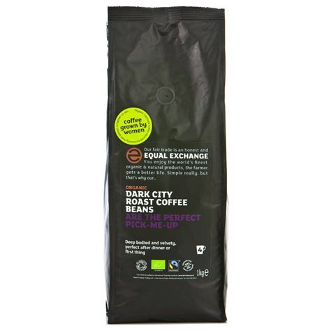 The quality beans we source from all over the world can be bought in their natural green form! Equal Exchange Organic Whole Beans Dark Roast Coffee - 1kg - Equal Exchange