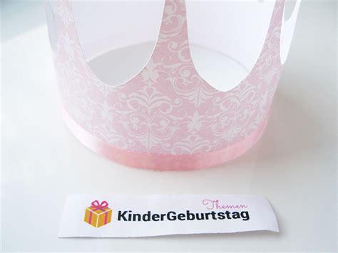 krone basteln zum prinzessin kindergeburtstag anleitung