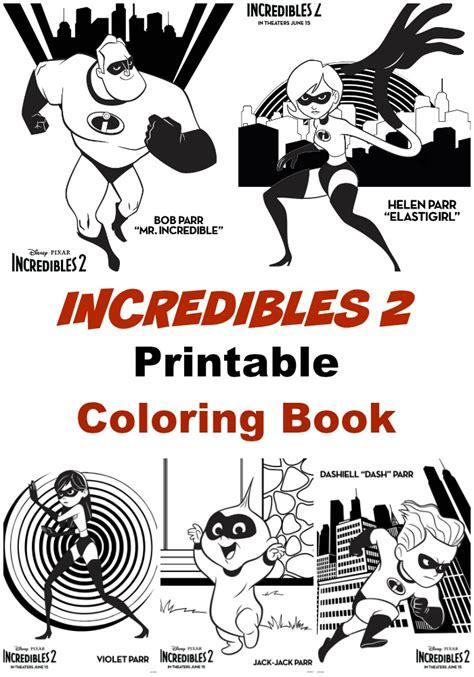 disneypixars incredibles  poster  printable coloring