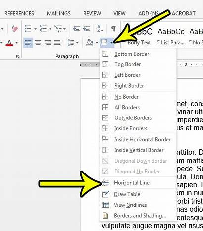 Word Line Horizontal Drawing Document Simple Live2tech