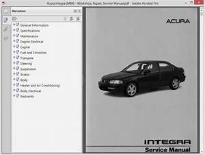 Acura Integra  Mb4  Service Manual