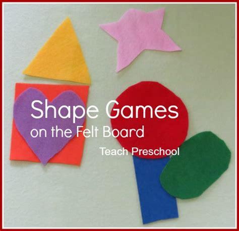 simple shape on the felt board teach preschool 644 | Shape Games on the Felt Board by Teach Preschool