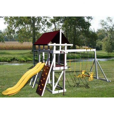 amish  jungle gym explorer swing set backyard