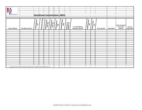 referralprospect tracking spreadsheet sample