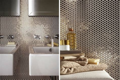 hottest decor trend  metallic tile decor ideas digsdigs