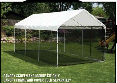 shelterlogic black screen kit     canopy    frame