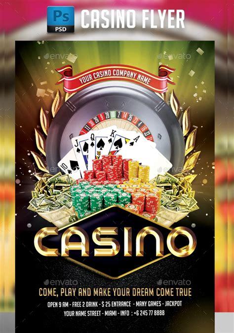 casino flyer templates printable psd ai vector eps