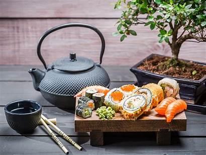 Tea Sushi Bonsai Japanese Pot Wallpapers Sauce