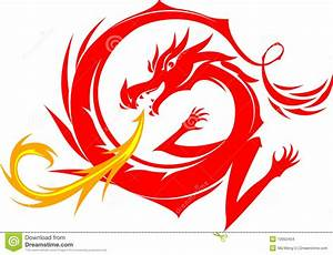 Red Dragon stock vector. Image of symbol, dance, flying ...