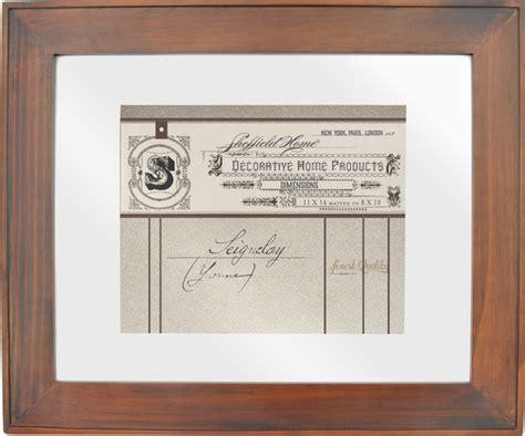 wooden document frame diploma frame  mat
