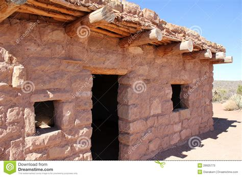 Native American Adobe House Stock Image