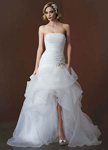 david39s bridal organza and tulle high low wedding dress With high low wedding dresses