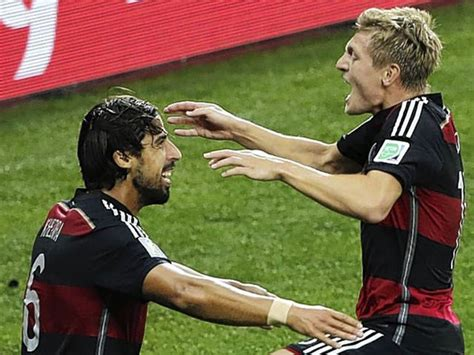 Khedira had already got his hands on the ultimate prize in world football anyway, being a key member of the germany side which clinched the fifa world cup in 2014. Brazil vs Germany World Cup 2014 analysis: Sami Khedira and Toni Kroos the brilliant twin ...