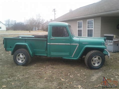 willys jeep truck green willys jeep truck 4x4 new tires new paint runs great