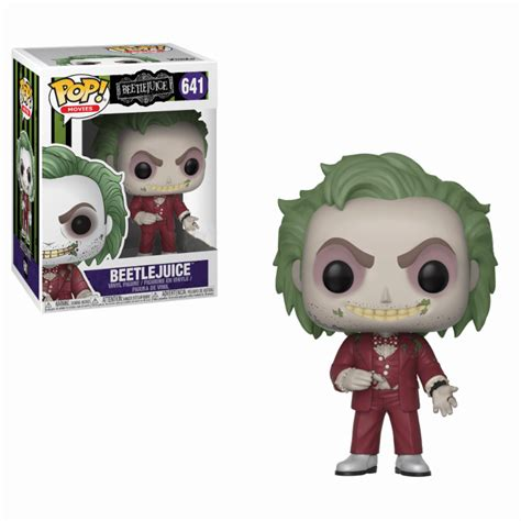 beetlejuice exc pop vinyl figure pop   box uk