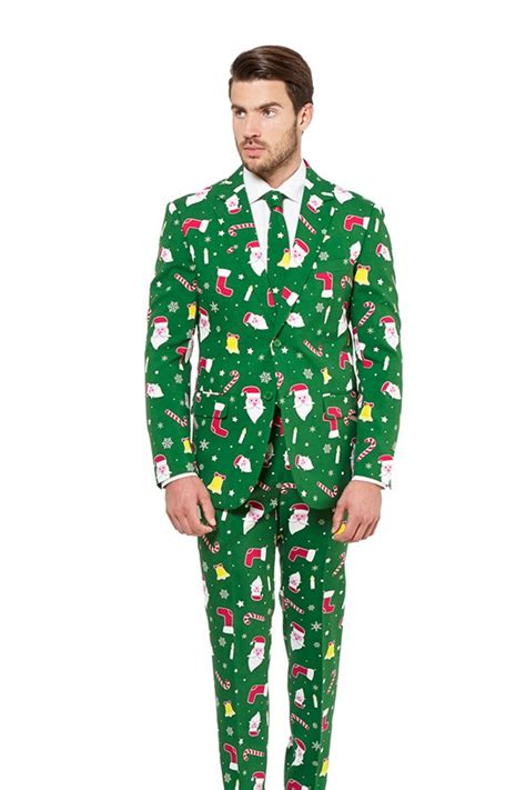 Green Ugly Christmas Sweater Suit by Opposuits | The Don Juan