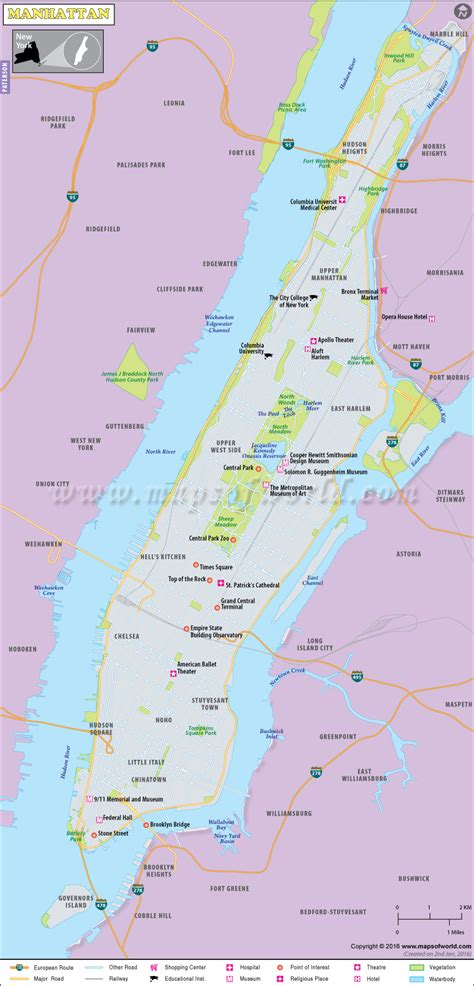 manhattan map world  map