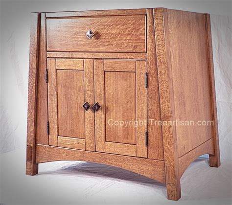 bathroom sink cabinet vanity amish mccoy mission oak  colors