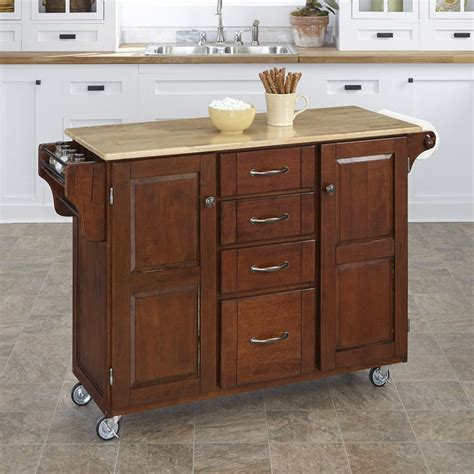 kitchen island length shop home styles 52 5 in l x 18 in w x 35 75 in h medium