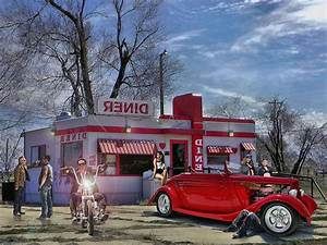 American Diner Wallpaper : retro diner wallpaper american diner retro motorbike usa abstract 50s diner and soda ~ Orissabook.com Haus und Dekorationen