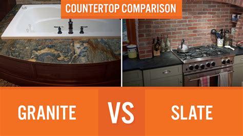 Compare Kitchen Countertops by Granite Vs Slate Countertop Comparison