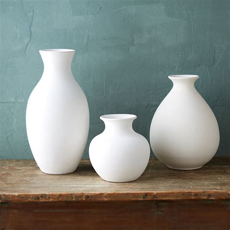 White Vase by White Earthenware Vase Terrain