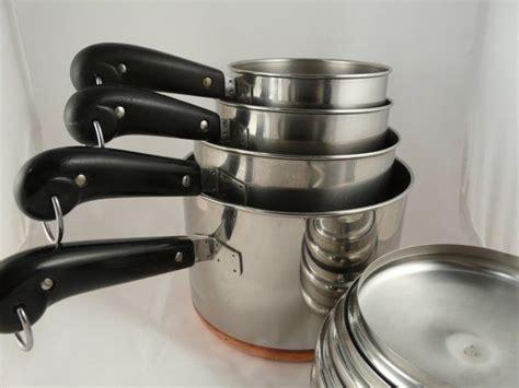 vintage copper bottom revere ware pan set   saltwatertriagevin revere ware classic