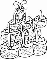 Easter Coloring Basket Pages Baskets Count sketch template