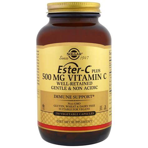 solgar ester c plus vitamin c 500 mg 250 vegetable