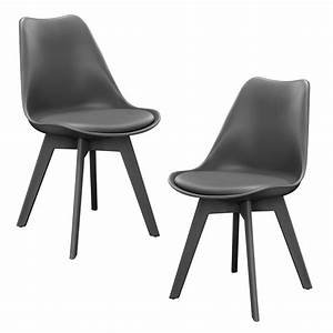 Stuhl Leder Grau : 2x design st hle esszimmer grau stuhl kunststoff kunst leder stuhl set ebay ~ Indierocktalk.com Haus und Dekorationen