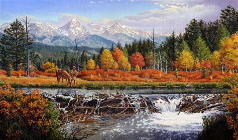 Iphone Galaxy Case Western Mountain Landscape Autumn
