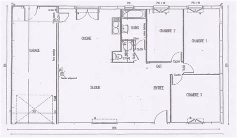 plan maison plain pied 2 chambres gratuit affordable plan maison interieur plan maison phenix